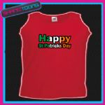IRISH IRELAND HAPPY ST PATRICKS DAY FLAG EMBLEM UNISEX VEST TOP